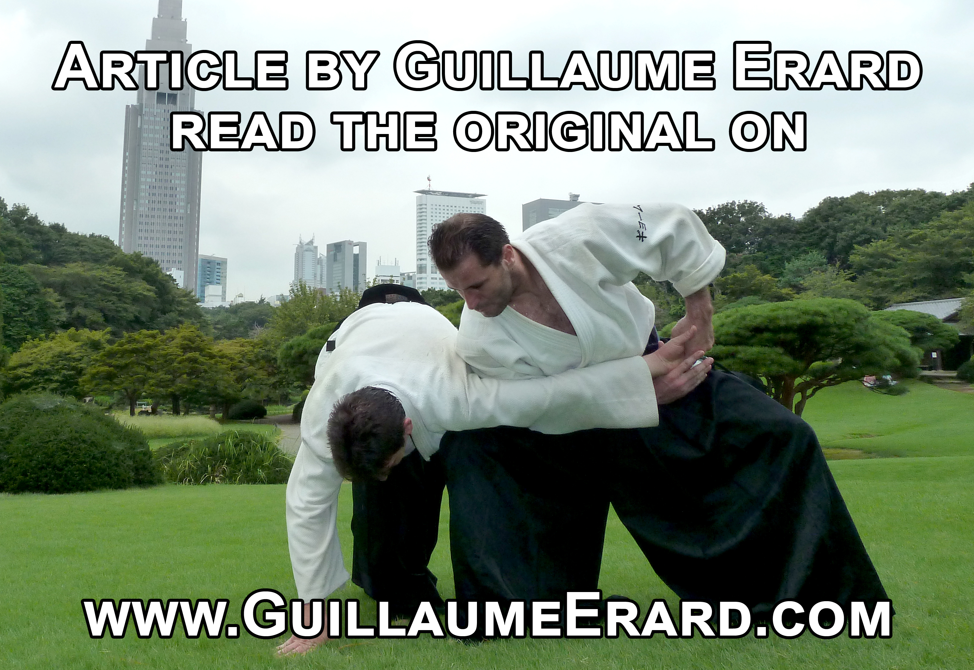 Guillaume Erard teaching Aikido to the Tokyo police